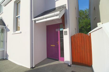 House painters exterior Clonakilty door purple