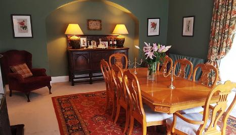 Dining room, walls, green, painters and decorators