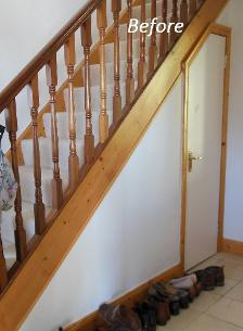 staircase, timber, outdated, before