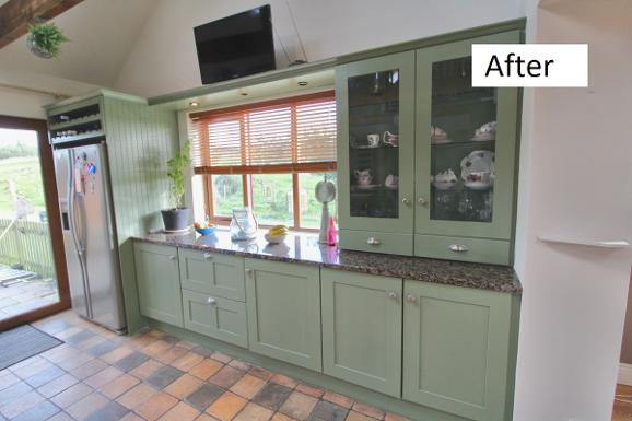 Kitchen painters, cabinets, green, by Deco-Furbish