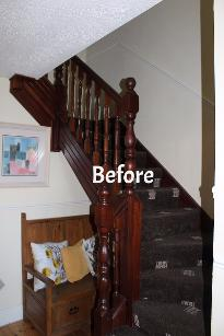 Staircase, old, outdated, before