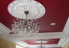 house painting, ceiling, red, painters and decorators