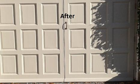 doors, painting, rotted, timber, after